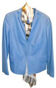 Akris Nappa Swiss Couture French Blue Leather Jacket