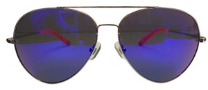 Linda Farrow Mirrored Metal Aviator Frame