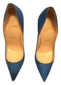 Christian Louboutin So Kate Suede Blue Pumps
