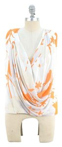 Diane von Furstenberg Soft Pastel Floral Top Orange