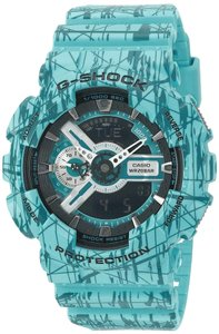 Casio Casio Watch G-Shock GA110SL-3A Slash Pattern X-Large Case Turquoise