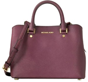 Michael Kors Satchel in Plum/Gold