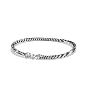 David Yurman Cable Buckle Bracelet with Diamonds (Medium)