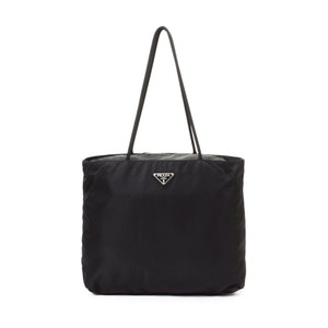 Prada Nylon Shoulder Classic Casual Tote in black