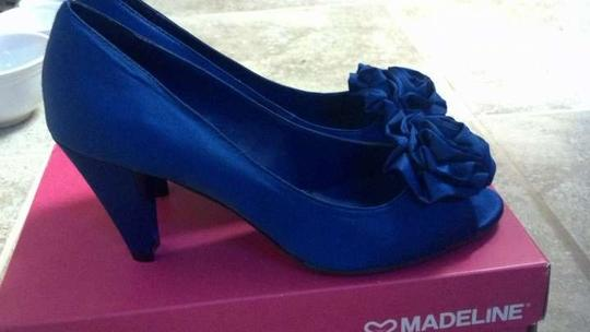 Madeline Stuart Blue Heels Something Vitality Pumps Size US 8