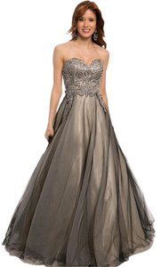 Jovani A-line Strapless Sweetheart Ball Gown Crystal Dress