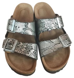 Birkenstock Silver, black and gray Sandals