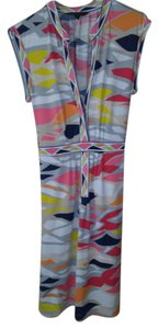 BCBGMAXAZRIA short dress White/ multi print on Tradesy