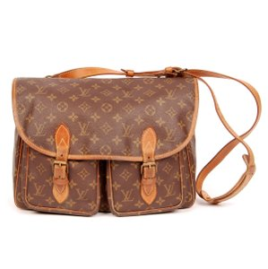 Louis Vuitton Monogram Canvas Weekend Travel Laptop Brown Messenger Bag