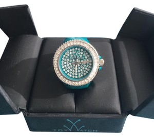 ToyWatch Toywatch Toy Ring Plasteramic Watch with Swarovski Crystals