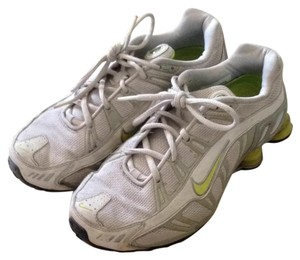 Nike light grey, white, lime green Athletic