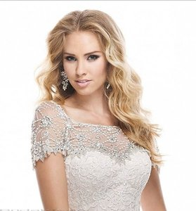 Maggie Sottero Maggie Sottero Chesney Jacket - Swarovski Crystal Sheer Shoulder Cover Wedding Dress