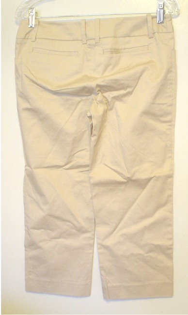 Mossimo Supply Co. Cropped Pants Casual Pants Size 2 Fit 3 Capris Khaki Image 1