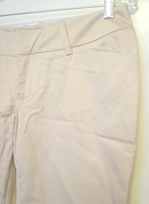 Mossimo Supply Co. Cropped Pants Casual Pants Size 2 Fit 3 Capris Khaki Image 2