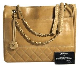 Chanel Cc Logo Lambskin Medallion Shoulder Bag