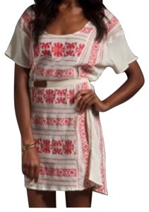 Patterson J. Kincaid short dress cream, red on Tradesy