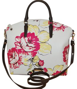 Brahmin Dahlia Flower Duxbury Large Satchel in Multi
