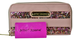 Betsey Johnson Betsey Johnson Zip Around Stipe Sequin Wallet M274-74 B414