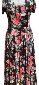 Black, Multi Colors Maxi Dress by Boutique Europa