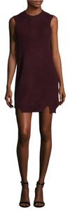 Qi Cashmere short dress Wine on Tradesy