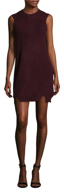 Preload https://img-static.tradesy.com/item/20528712/wine-mock-neck-sheath-short-casual-dress-size-2-xs-0-1-650-650.jpg
