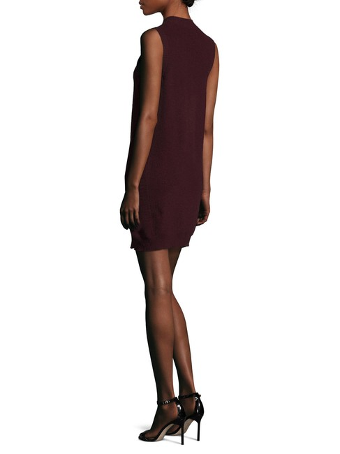 Qi Cashmere short dress Wine on Tradesy Image 2