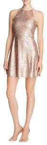 Aqua Sequin Fit & Flare Short Dress