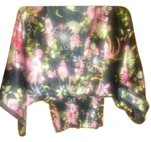 Other Angel Sleeve Top Kimono blouse -Black with pink asian print