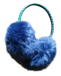 Anthropologie Blue Faux Fur Ear Muffs