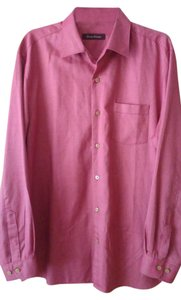 Tommy Bahama Button Down Shirt Heathered Red