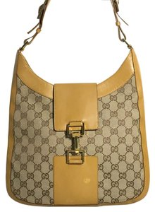 Gucci Gg Monogram Fabric Shoulder Bag