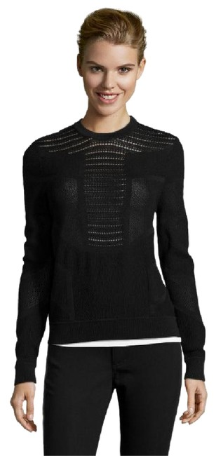 Preload https://img-static.tradesy.com/item/20529009/torn-by-ronny-kobo-geometric-pointelle-knit-faige-sweatshirt-black-sweater-0-1-650-650.jpg