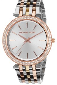 Michael Kors Women's Darci Tri-Tone Stainless Steel Silver-Tone Dial