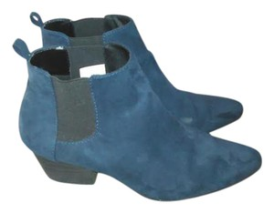 Old Navy Faux Suede Bootie Navy Blue Boots