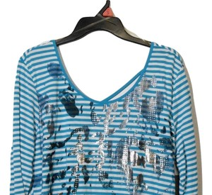 True Self Xl Graphic 3/4 Blue Top Multi