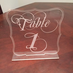 Acrylic Table Numbers For Wedding Reception Numbers 1-22