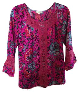 Jade by Melody Tam Top Pink floral