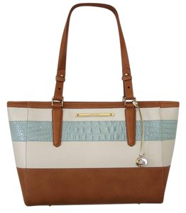 Brahmin Leather Arno Tote in French Blue Vineyard