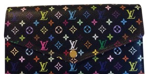 Louis Vuitton Multicolor noir Sarah Wallet NM