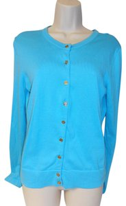 Lilly Pulitzer 100% Cotton Gold Buttons Cardigan