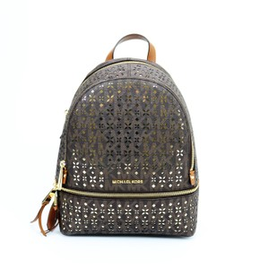 Michael Kors Mk Canvas Gold Backpack