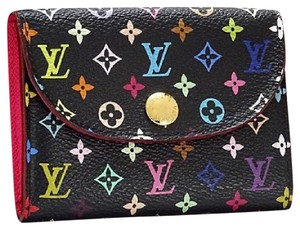 Louis Vuitton Multicolore Monogram Noir Card Holder w/ Grenade Interior