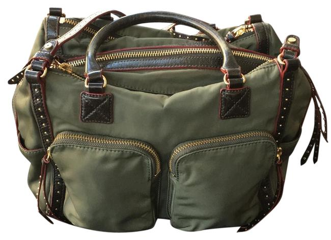 Item - Army Green Canvass and Leather Satchel