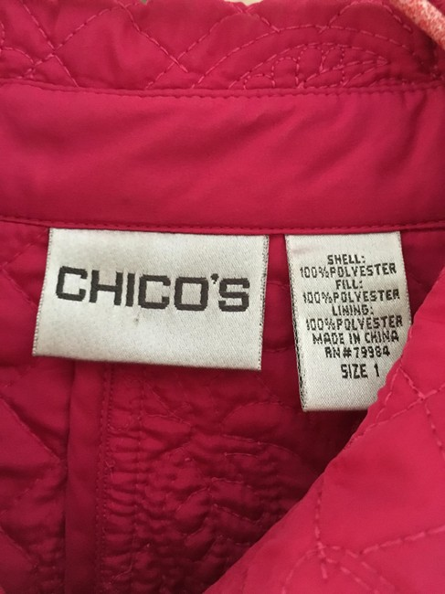 Chico's Quilted Pink Jacket Image 1