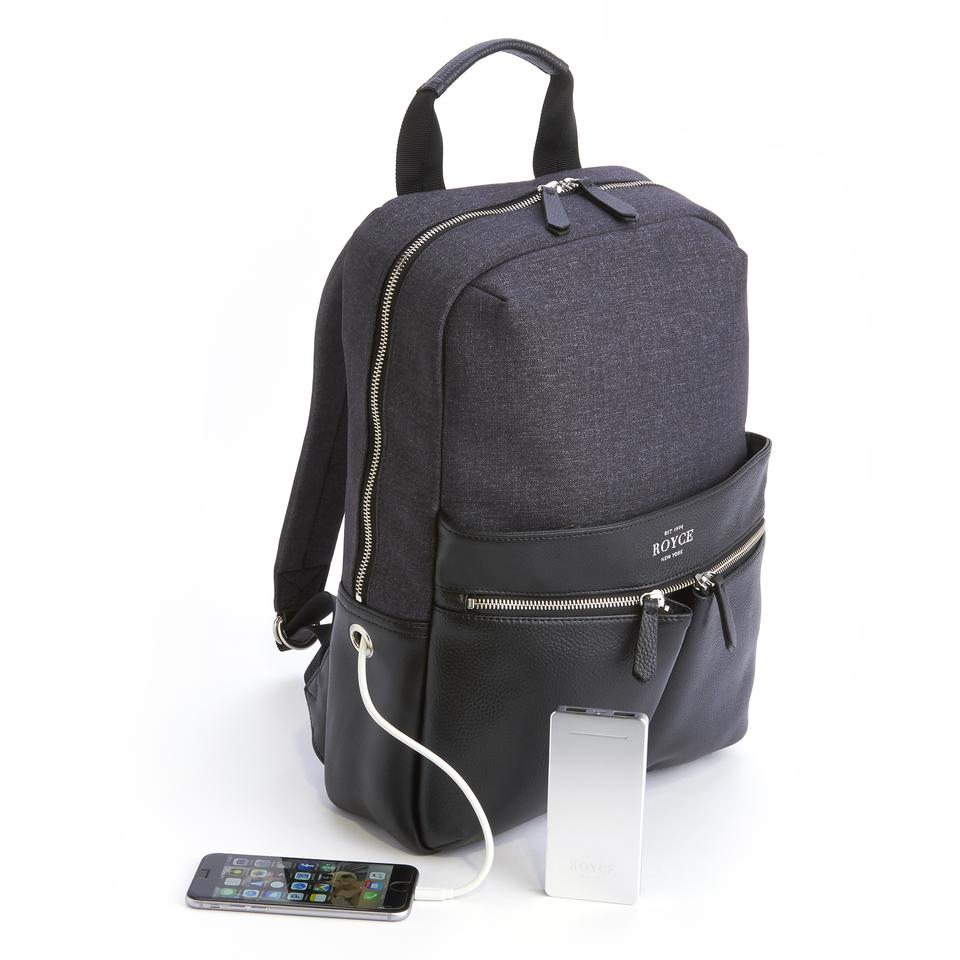power bank charging american leather backpack 42 off. Black Bedroom Furniture Sets. Home Design Ideas