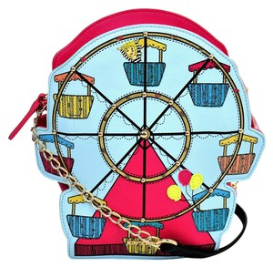Betsey Johnson Ferris Wheel Leather Shoulder Bag