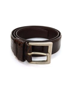 Prada Prada Brown Crocodile Belt sz 75