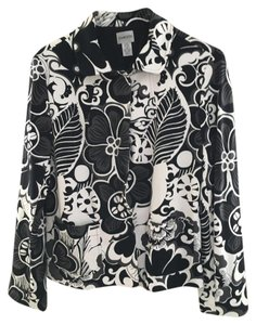 Chico's Patterned Floral black and white Jacket