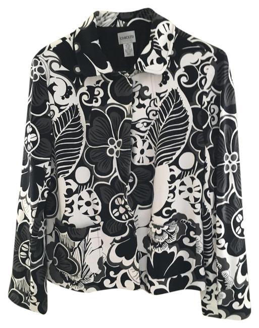 Preload https://img-static.tradesy.com/item/20529629/chico-s-black-and-white-patterned-spring-jacket-size-8-m-0-2-650-650.jpg