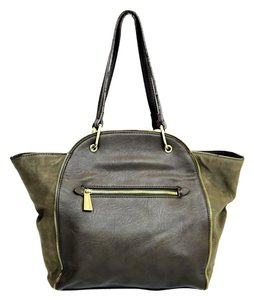 Olivia + Joy + Leather Taupe Shoulder Bag